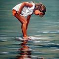 Girl At Shore  by Natalia Tejera