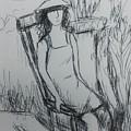 Girl At The Garden by Hae Kim