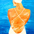 Girl At The Pool by Lisa Baack