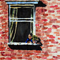 Girl At Window by Bonnie Follett