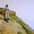 Girl Carrying A Basket By Winslow Homer 1882 by Movie Poster Prints