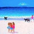 Girl Friends - Beach Painting by Jan Matson