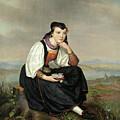 Girl From Hessen In Traditional Dress by August von der Embde