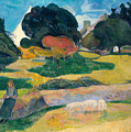 Girl Herding Pigs by Paul Gauguin