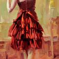 Girl In A Copper Dress IIi by Steve Henderson