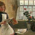 Girl In A Cottage Window by Norman Garstin