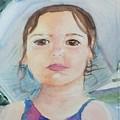 Girl In A Hat Portrait by Katherine  Berlin