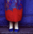 Girl In Colorful Flower Dress by Jim Corwin