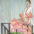Girl In Flamenco Dress by Angeles M Pomata