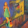 Girl In Green Dress by Shirley Lennon