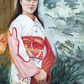 Girl In Kimono by Judy Swerlick