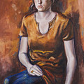 Girl In Orange by Victoria  Shea