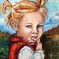 Girl In Red Jumper by Dottie Mabry