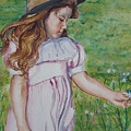 Girl In Straw Hat by Charme Curtin
