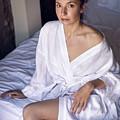 girl in the Bathrobe lying by Elena Saulich