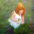 Girl In The Meadow by Loretta Luglio