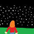 Girl In The Starry Night by Arianna