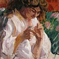 Girl Mending by Roderic OConor