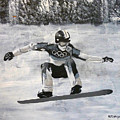 Girl On A Snowboard by Richard Le Page