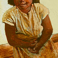 Girl On Bench by Robert Bissett
