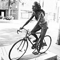 Girl On Bike Sculpture Grand Junction Co by Tommy Anderson
