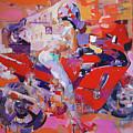 Girl On Red Bike by Dima K