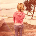 Girl On Redcliffe Travel Holiday by Jorgo Photography - Wall Art Gallery