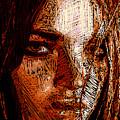 Girl Portrait In Sepia  by Rafael Salazar