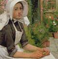 Girl Shelling Peas by Albert Chevallier Tayler