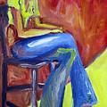 Girl Sitting by Karen Adams