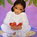 Girl Sitting Under Mango Tree by Katrina Dalton