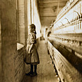 Girl Spinner 11 Years Old Rhodes Manufacturing Co Lincolnton 1908 by Lewis Hine Presented by Joy of Life Art