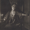 Girl With A Candle by John Greenwood After Nicolaas Verkolje
