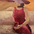Girl With A Glass by Nataliia Fialko