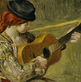 Girl With A Guitar by Pierre Auguste Renoir