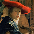 Girl With A Red Hat by Jan Vermeer