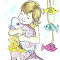 Girl With A Toy-fish by Yana Sadykova