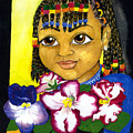 Girl With African Violet by David Willis