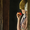 Girl With Apple by John Anderson