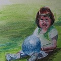 Girl With Ball by Katherine Berlin