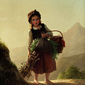 Girl With Basket by Johann Georg Meyer von Bremen