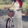 Girl With Beach Bike by Alissa Beth Photography