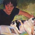 Girl With Cat by Merle Keller