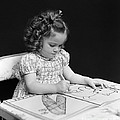 Girl With Coloring Book, C.1960-40s by H. Armstrong Roberts/ClassicStock