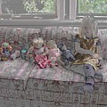 Girl With Dolls by Ron Bissett