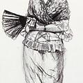 Girl With Fan by Winslow Homer