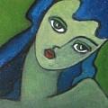 Girl With Green Eye by Vesna Antic