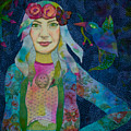 Girl With Kaleidoscope Eyes by Karen Payton