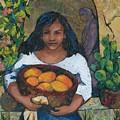 Girl With Mangoes by Barbara Nye