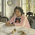 Girl With Peaches by Valentin Aleksandrovich Serov